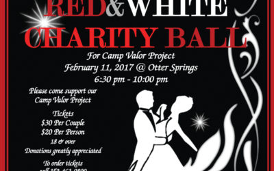 Red and White Chairty Ball